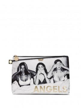 Стильная объемная косметичка с изображением ангелочков Victoria's Secret