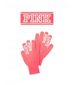 Яркий наборчик: перчатки + повязка на голову от Victoria's Secret PINK