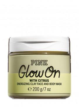 Тонизирующая глиняная маска для лица и тела Glow On из серии PINK