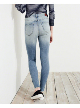Джинсы Ultra High-Rise Super Skinny с вышивкой Hollister