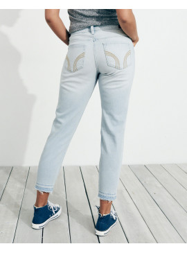 Джинсы Low-Rise Boyfriend Hollister