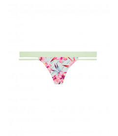 Хлопковые трусики-стринги с бархатной резинкой от Victoria's Secret PINK