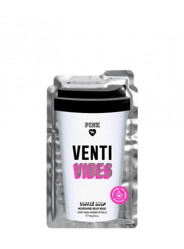 Питательная кофейно-молочная маска для лица Venty Vibes из серии PINK
