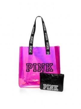 Силиконовая пляжная сумка + клатч-косметичка от Victoria's Secret PINK