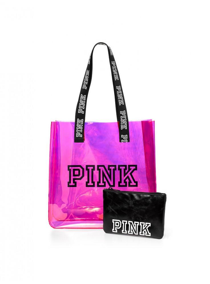 bd4ca53e8328 Силиконовая пляжная сумка + клатч-косметичка от Victoria's Secret PINK