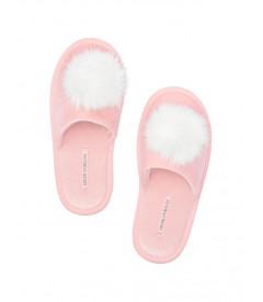 Мягенькие тапочки с меховым помпоном от Victoria's Secret - Pink About It