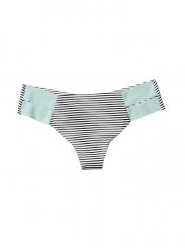 Фото Бесшовные трусики-стринги Victoria's Secret PINK - White And Black Narrow Stripes