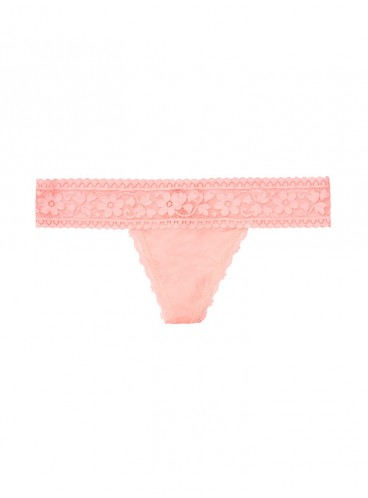 Трусики-стринги Cotton Floral Lace-waist от Victoria's Secret