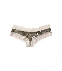 Хлопковые трусики-чики Victoria's Secret PINK - Inverted Logo Camo