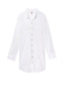 Фото Фланелевая ночная рубашка Victoria's Secret -White Iridescent