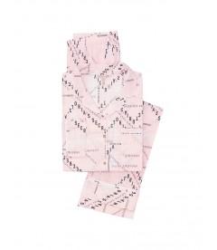 Пижама Victoria's Secret из коллекции The Lightweight - Pink Typed Logos