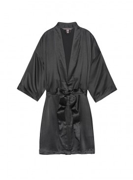 Фото Роскошный халат Very Sexy Short Satin Kimono - Black от Victoria's Secret