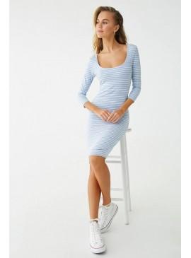 Фото Полосатое платье Forever 21 - Periwinkle White