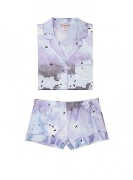 Фото Сатиновая пижамка с шортиками Victoria's Secret из сериии The Sleepover - Blue Cloud
