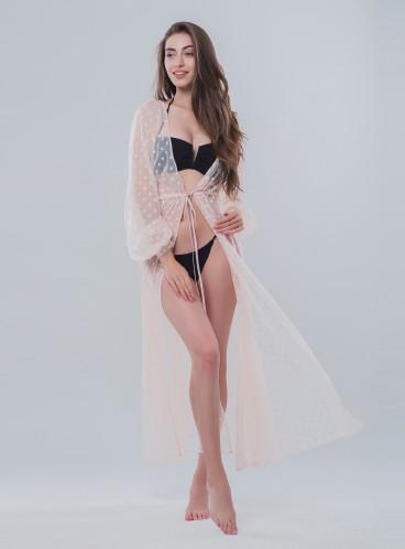 Длинная пляжная туника be Angel Pink