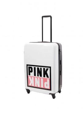 Фото Чемодан для путешествий Victoria's Secret PINK - White And Black With Logo