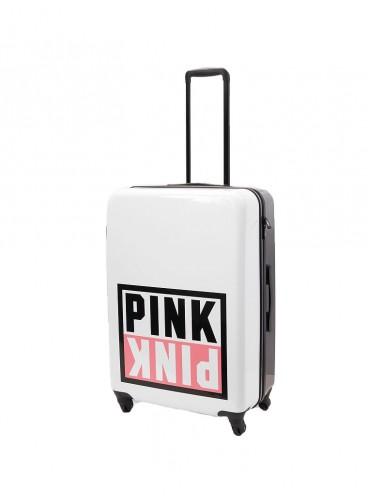 Чемодан для путешествий Victoria's Secret PINK - White And Black With Logo
