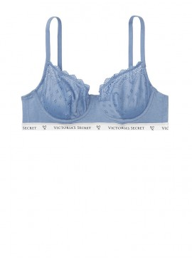 Фото Бюстгальтер Cotton Unlined Demi из серии The T-Shirt от Victoria's Secret - Вlue