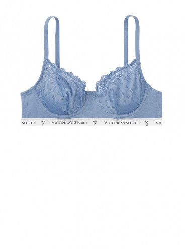 Бюстгальтер Cotton Unlined Demi из серии The T-Shirt от Victoria's Secret - Вlue