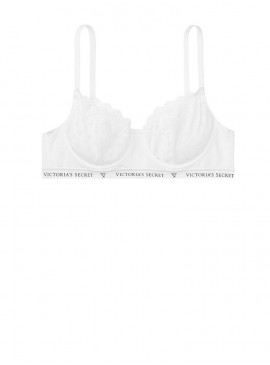 Фото Бюстгальтер Cotton Unlined Demi из серии The T-Shirt от Victoria's Secret - White