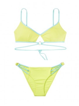 Фото NEW! Стильный купальник Wrapped Keyhole от Victoria's Secret - Soft Lime