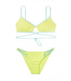 NEW! Стильный купальник Wrapped Keyhole от Victoria's Secret - Soft Lime
