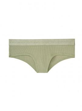 Фото Хлопковые трусики-чики Victoria's Secret из коллекции Cotton Logo - Sage Brush High Shine