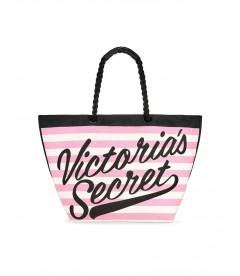Стильная пляжная сумка Victoria's Secret - Pink Strip