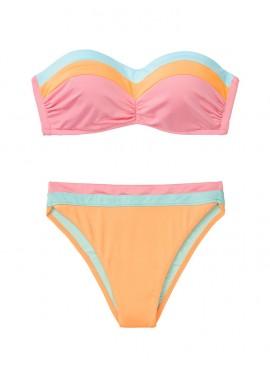 Фото NEW! Стильный купальник Bustier Bandeau от Victoria's Secret - Sun Peach