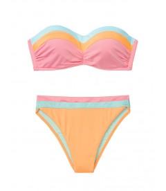 NEW! Стильный купальник Bustier Bandeau от Victoria's Secret - Sun Peach