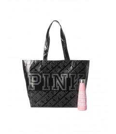 Термобутылка для воды + сумка-шоппер от Victoria's Secret PINK - Pink