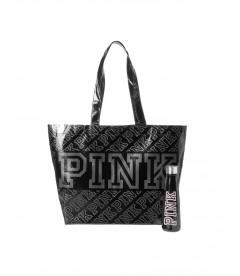 Термобутылка для воды + сумка-шоппер от Victoria's Secret PINK - Black