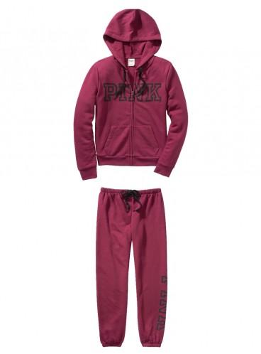 Флисовый костюм от Victoria's Secret PINK - Deep Ruby