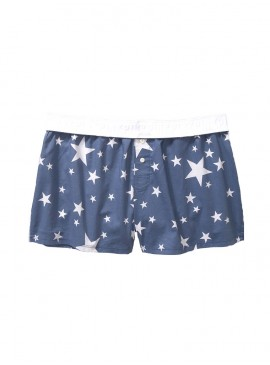 Фото Пижамные шорты от Victoria's Secret PINK - Old School Blue Multi Stars