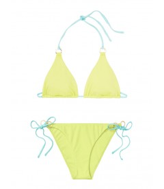 NEW! Стильный купальник Triangle от Victoria's Secret - Soft Lime