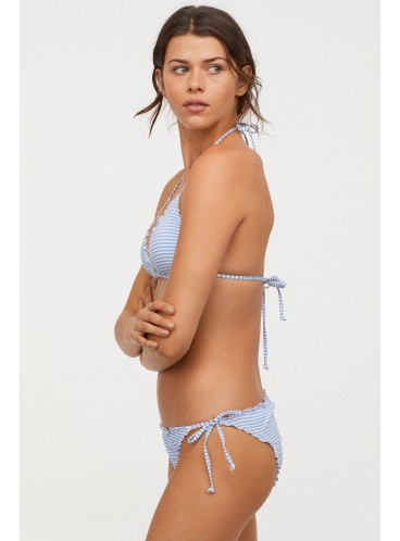 Стильный купальник с Push-Up от H&M - Blue White Striped