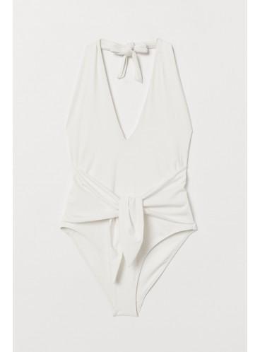 Стильный купальник-монокини Halterneck от H&M - White