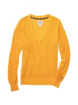 Фото Стильный теплый свитер из коллекции Victoria's Secret PINK - Gold Glow