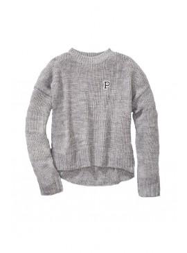 Фото Стильный теплый свитер из коллекции Victoria's Secret PINK - Heather River Stone