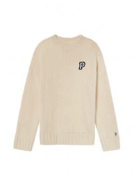 Фото Стильный теплый свитер из коллекции Victoria's Secret PINK - Oatmeal