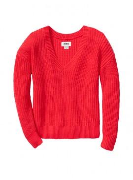 Фото Стильный теплый свитер из коллекции Victoria's Secret PINK - Neon Candy Coral