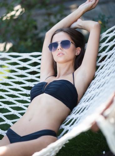 NEW! Стильный купальник Ruched V-Front Bandeau от Victoria's Secret