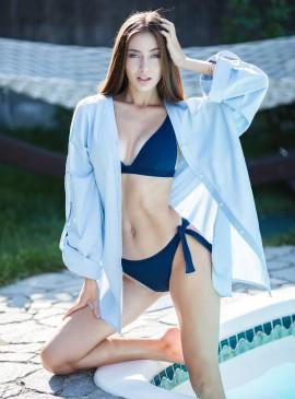 Фото Льняная пляжная рубашка be Angel Blue