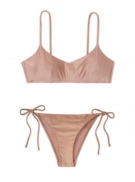 Фото NEW! Стильный купальник Metallic от Victoria's Secret - Rose Sand