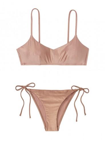 NEW! Стильный купальник Metallic от Victoria's Secret - Rose Sand