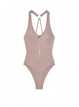 Фото NEW! Стильный монокини Zip V-neck One-piece от Victoria's Secret - Silver Mirage