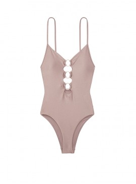 More about NEW! Стильный монокини Zip V-plunge One-piece от Victoria's Secret - Silver Mirage