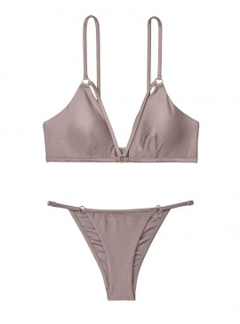 Фото NEW! Стильный купальник Strappy Ring Bralette от Victoria's Secret - Silver Mirage