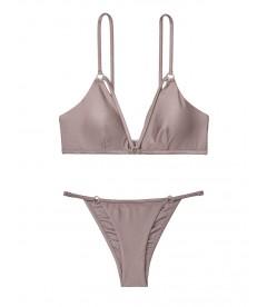 NEW! Стильный купальник Strappy Ring Bralette от Victoria's Secret - Silver Mirage