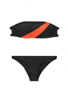 Фото NEW! Стильный купальник Asymmetric Stripe Bandeau от Onia - Black
